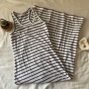 🔵Striped Blue & White Maxi Dress